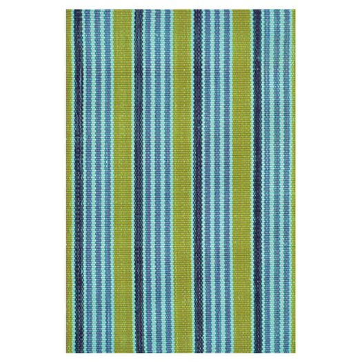 Dash and Albert Rugs Woven Frog Blue Indoor/Outdoor Area Rug