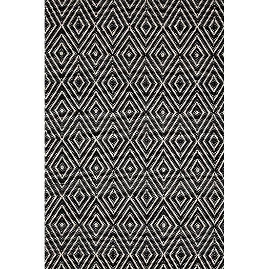Dash and Albert Rugs Woven Black & Ivory Diamond Indoor/Outdoor Area Rug