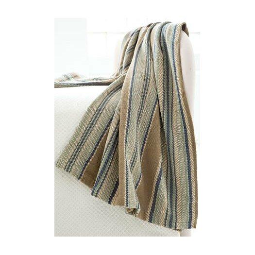 Dash and Albert Rugs Heron Stripe Woven Cotton Throw
