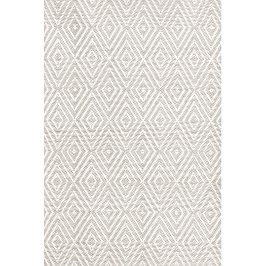 Dash and Albert Rugs Indoor/Outdoor Diamond Gray & White Outdoor Area Rug