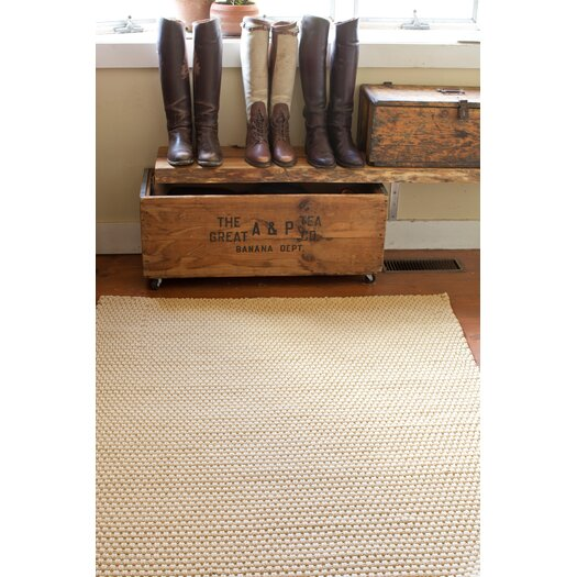 Dash and Albert Rugs Indoor/Outdoor Wheat Rope Khaki Outdoor Area Rug