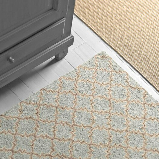 Dash and Albert Rugs Hooked Plain Tin Slate Micro Geometric Area Rug