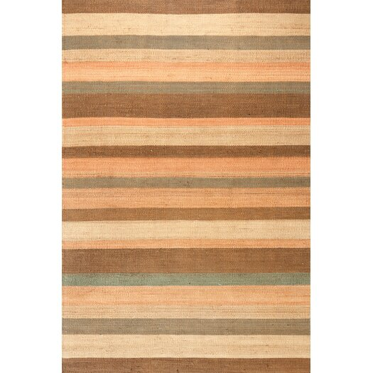 Dash and Albert Rugs Desert Orange Stripe Area Rug