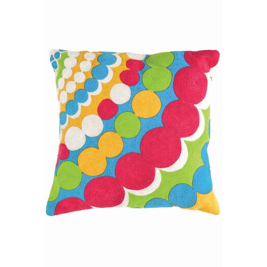 Dash and Albert Rugs Fresh American Bubbles Polypropylene Pillow