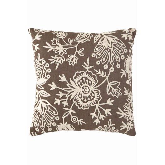 Dash and Albert Rugs Fresh American Floral Crewel Polypropylene Pillow