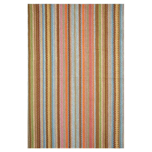 Dash and Albert Rugs Woven Zanzibar Ticking Area Rug