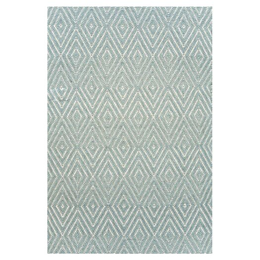 Dash and Albert Rugs Woven Light Blue Diamond Area Rug