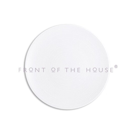"""Front Of The House Spiral  11"""" Round Plate"""
