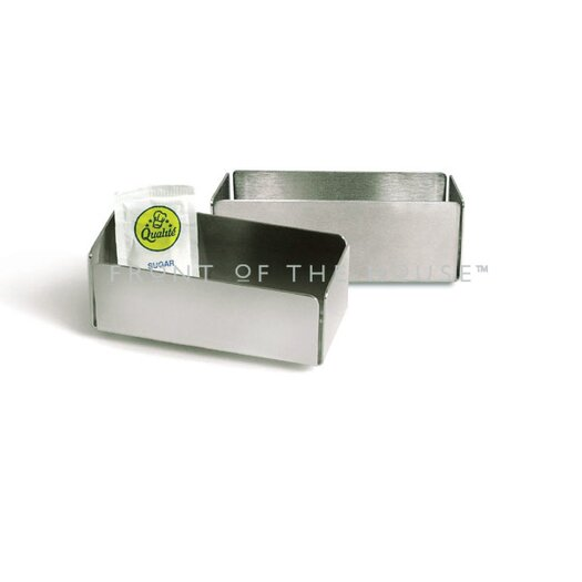 Front Of The House 7 oz Stainless Steel Brushed Holder