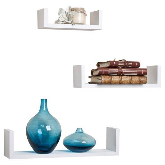 Danya B Fini 3 Piece Floating Wall Shelf Set