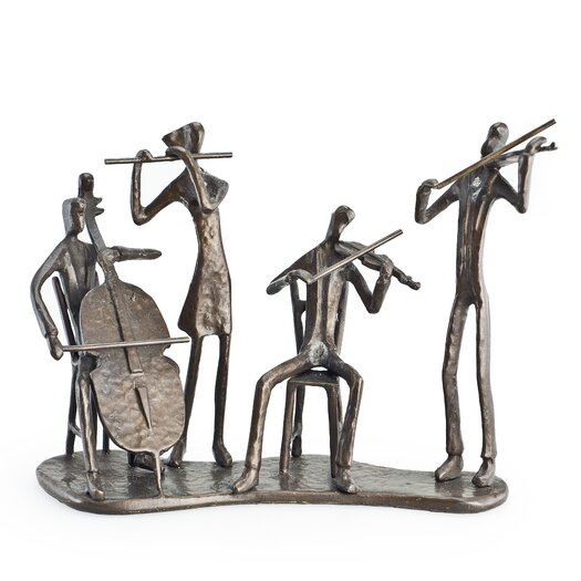 Danya B Musician Quartet on Base Sculpture