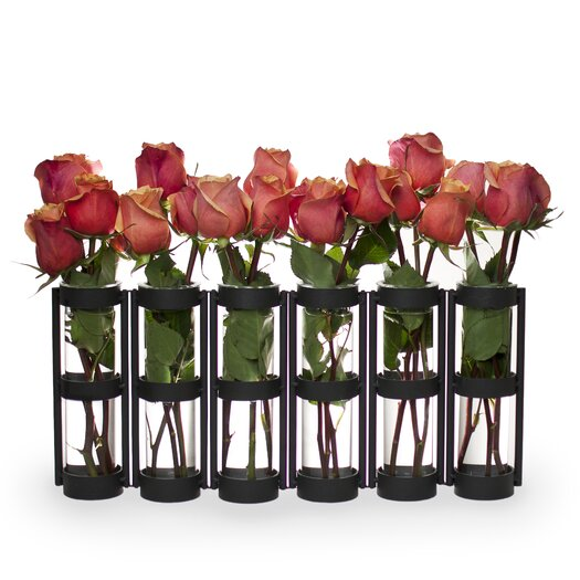 Danya B Large 6 Tube Hinged Vase