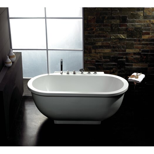 "Ariel Bath 71"" x 37"" Free Standing Whirlpool Tub"