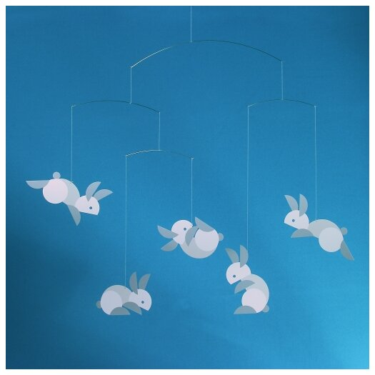 Flensted Mobiles Circular Bunnies Mobile