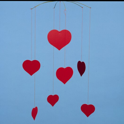 Flensted Mobiles Themed Happy Hearts Mobile