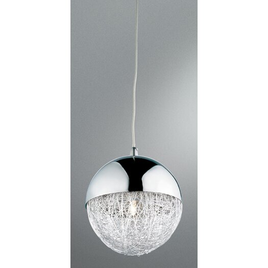 Eurofase Sonnet 1 Light Globe Pendant in Chrome