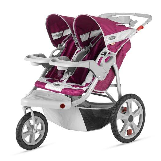 InSTEP Safari Swivel Wheel Double Stroller