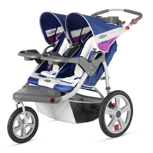 InSTEP Grand Safari Swivel Wheel Double Stroller