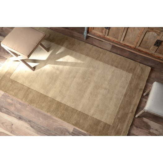 nuLOOM Natura Solo Thick Border Taupe/Beige Area Rug