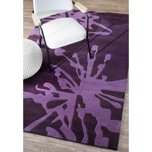 nuLOOM Barcelona Purple Flower Burst Area Rug