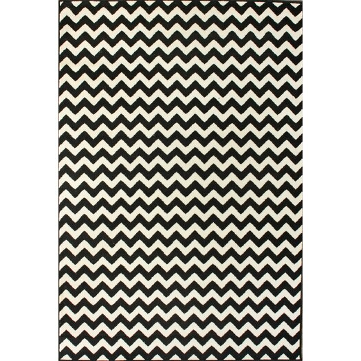 nuLOOM Kinder Chevron Ivory & Black Area Rug