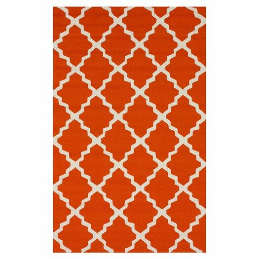 nuLOOM Homestead Orange Lannah Trellis Geometric Area Rug