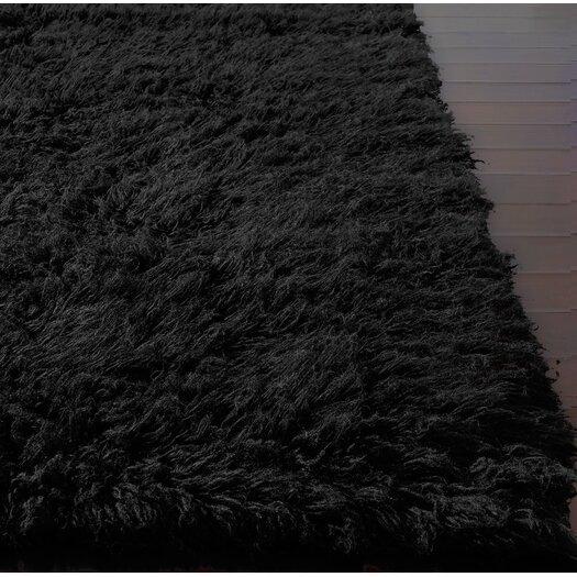 nuLOOM Flokati Black Area Rug