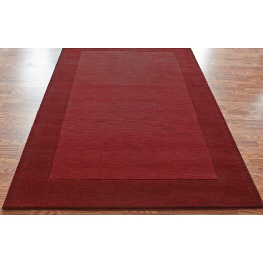 nuLOOM Structures Red Border Rug