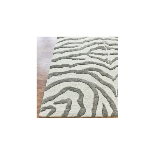 nuLOOM Earth Safari Zebra Grey Area Rug