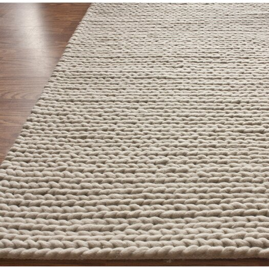 nuLOOM Textures Cable Chunky White Area Rug