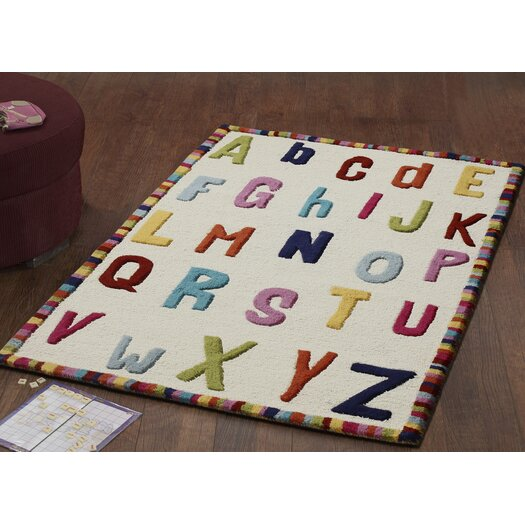 nuLOOM Kinder Educational Letters Ivory Area Rug