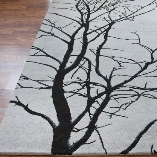 nuLOOM Pop Tree Branches Grey Rug