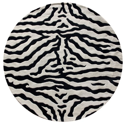 nuLOOM Earth Zebra Wool Handmade Zebra Black Area Rug