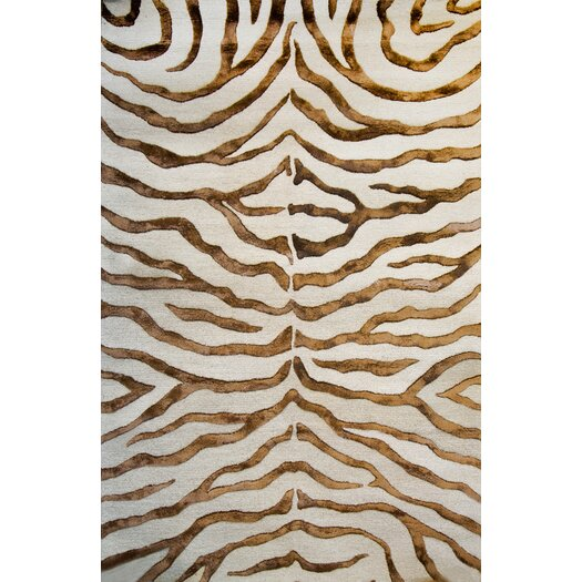 nuLOOM Earth Safari Zebra Print with Faux Silk Highlights Area Rug