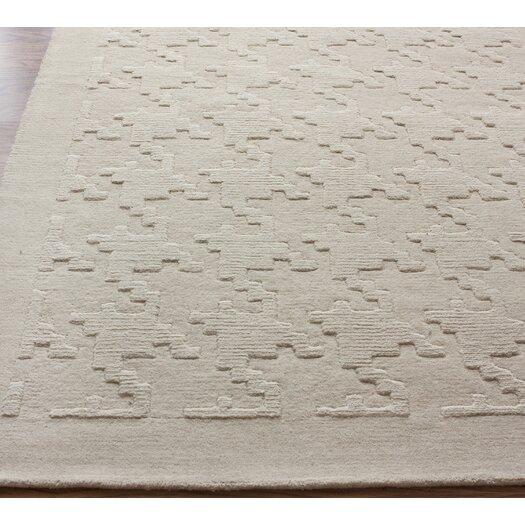 nuLOOM Gradient Ivory Houndstooth Texture Area Rug