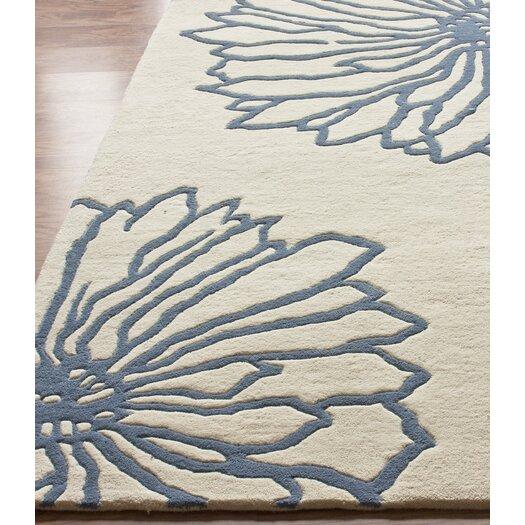 nuLOOM Gradient Ivory/Blue Floralina Area Rug
