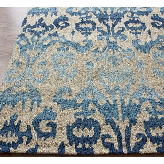 nuLOOM Pop Blue Ikat Area Rug