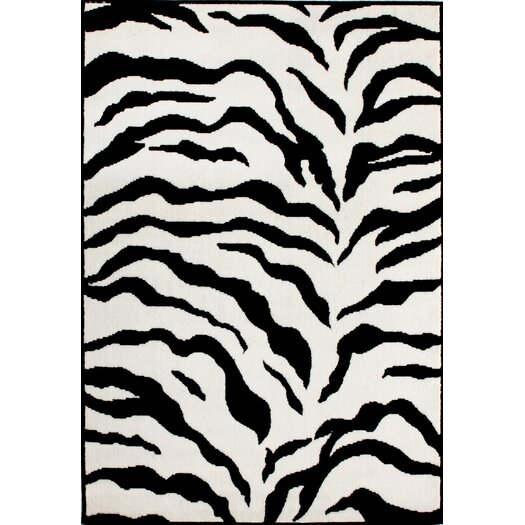nuLOOM Earth Zebra Print Black & Ivory Area Rug