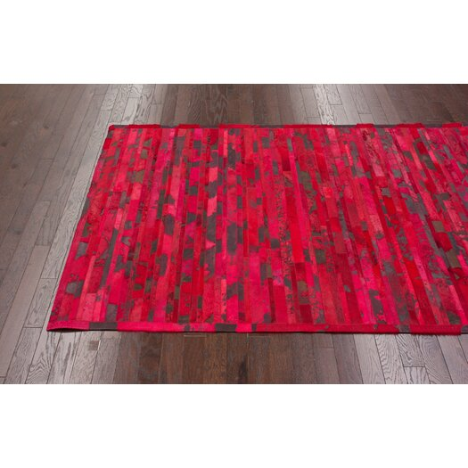 nuLOOM Hudson Red Chevron Area Rug