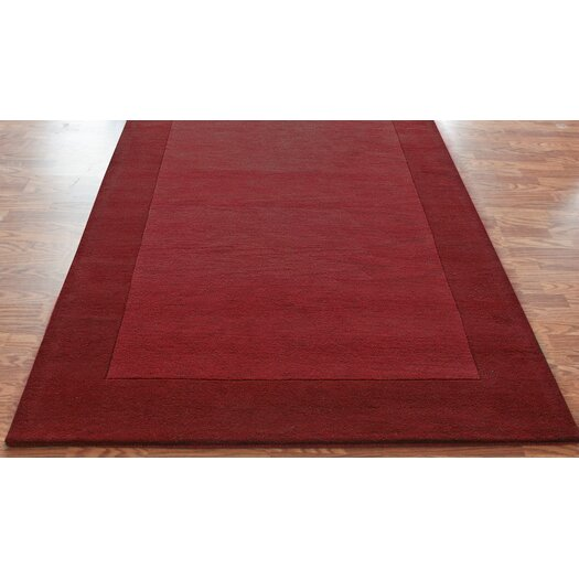 nuLOOM Bella Solid Border Red Area Rug