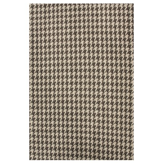 nuLOOM Natura Houndstooth Brown Area Rug