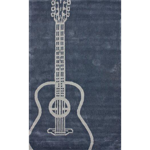 nuLOOM Cine Grey Guitar Novelty Outdoor Area Rug