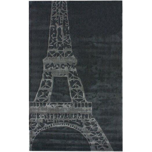 nuLOOM Cine Eiffel Grey Novelty Rug