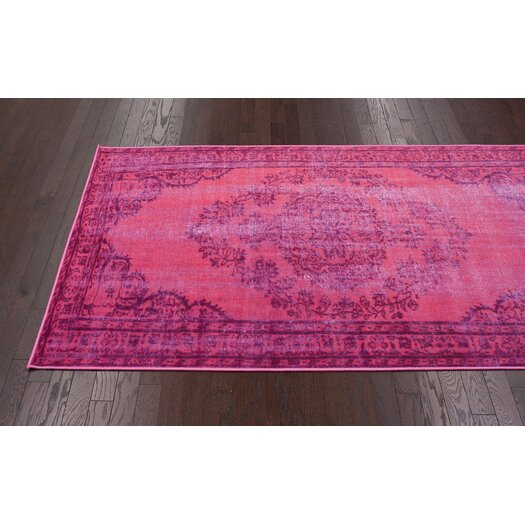 nuLOOM Remade Distressed Overdyed Pink Area Rug