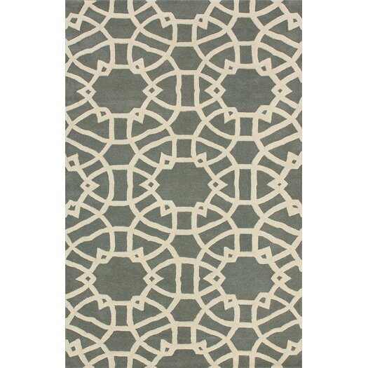 nuLOOM Marbella lattice Grey Area Rug