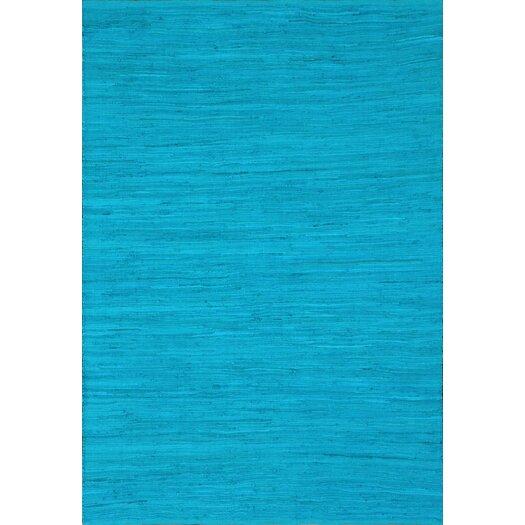 nuLOOM Keen Mosaic Blue Mona Rag Rug
