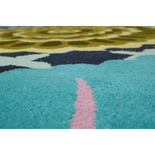 nuLOOM Fancy Turquoise Nalda Floral Area Rug