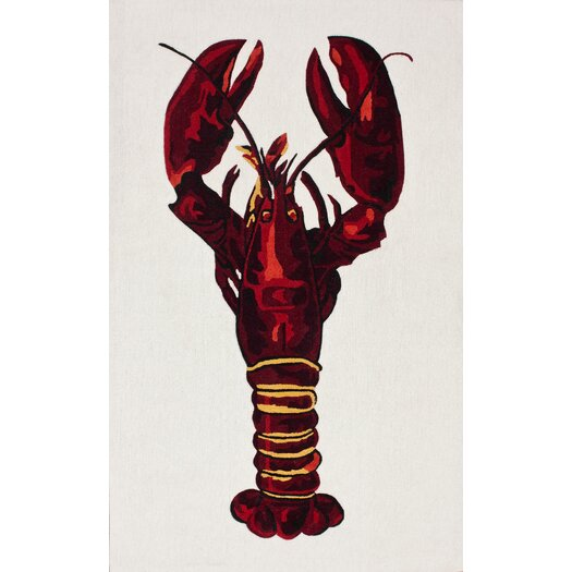 nuLOOM Cine Red Lobster Novelty Outdoor Area Rug