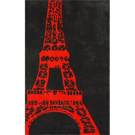 nuLOOM Cine Orange Viva La France Novelty Area Rug