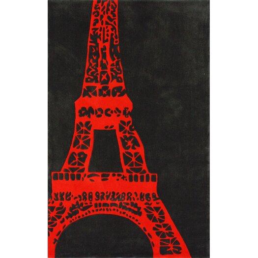 nuLOOM Cine Orange Viva La France Novelty Outdoor Aarea Rug